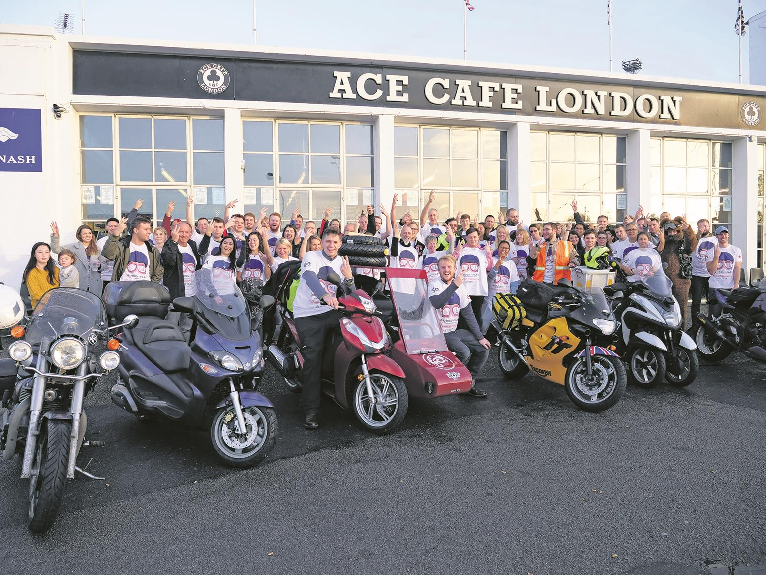 The adventurers set off from Ace Cafe London
