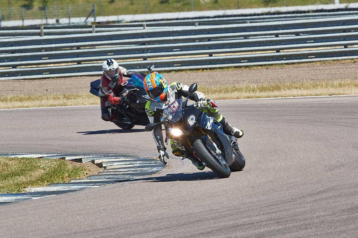 Michael Neeves demonstrates off-throttle cornering