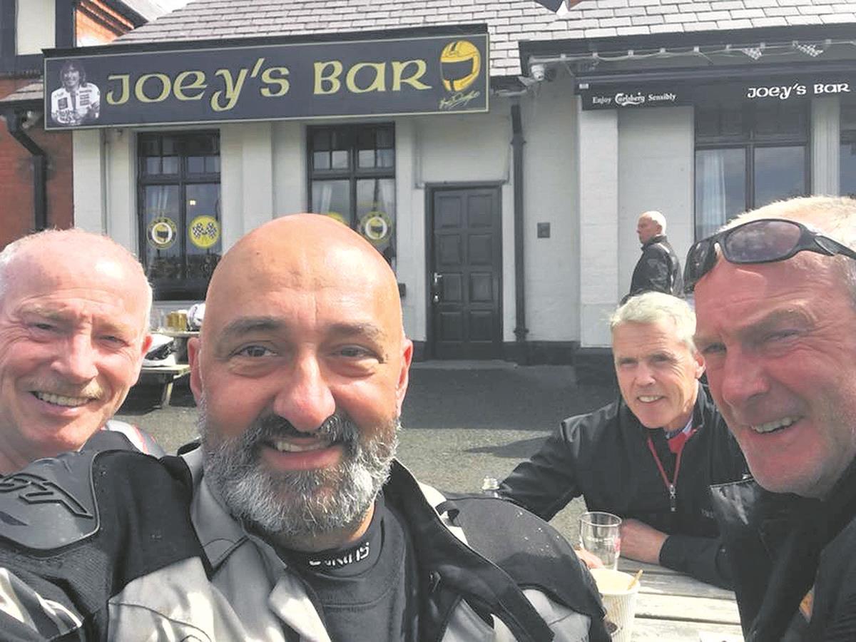 MCN reader John Ashley with his biking buddies