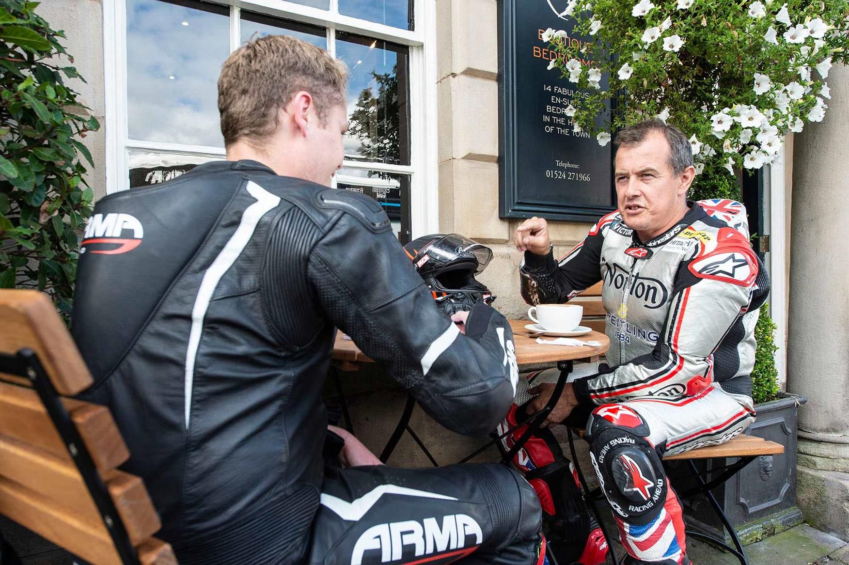 MCN sits down with McGuinness for a bite to eat