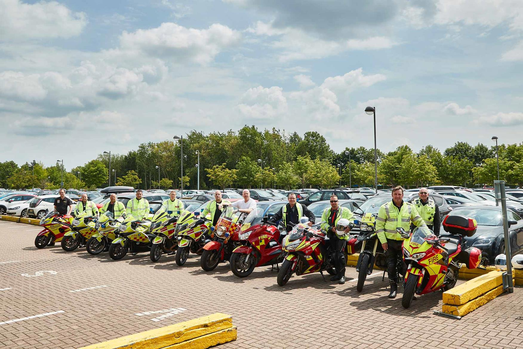 A range of fire bikes visited MCN