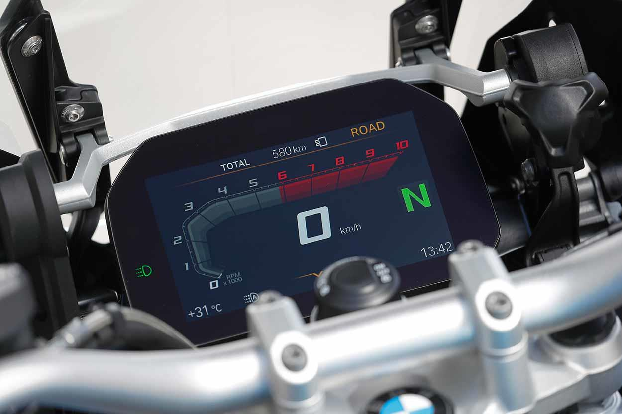 The BMW R1250GS TFT screen