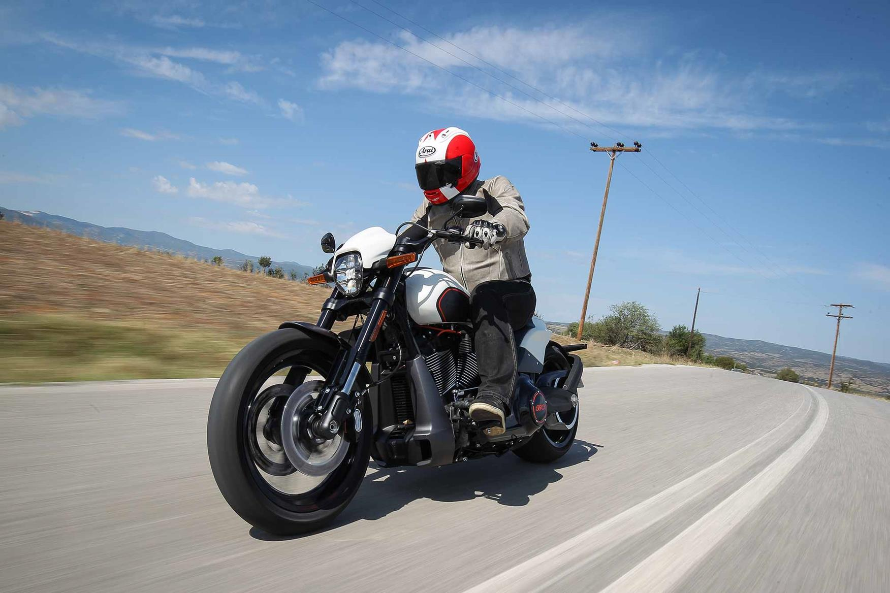 The Harley-Davidson FXDR in action