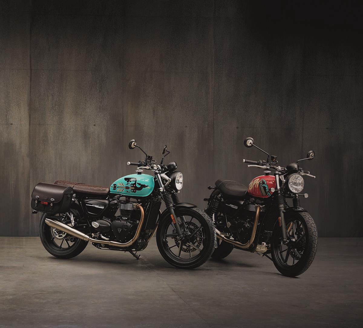 The Street Twin gets two inspiration kits, the Urban Ride and the Cafe Custom.