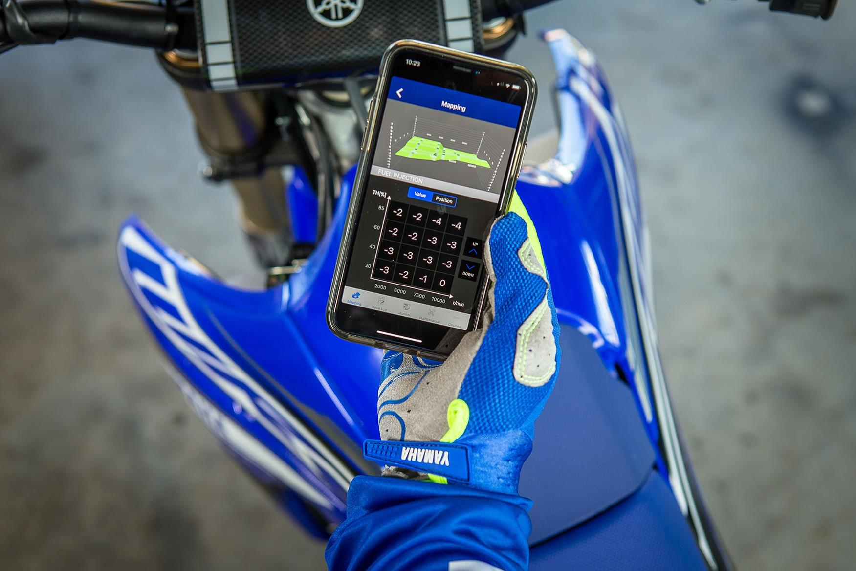Engine mapping can be altered using a smartphone app with the race kit