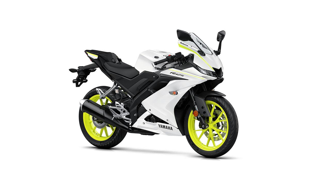 The new YZF-R125 comes in three different colours, including this Competition White