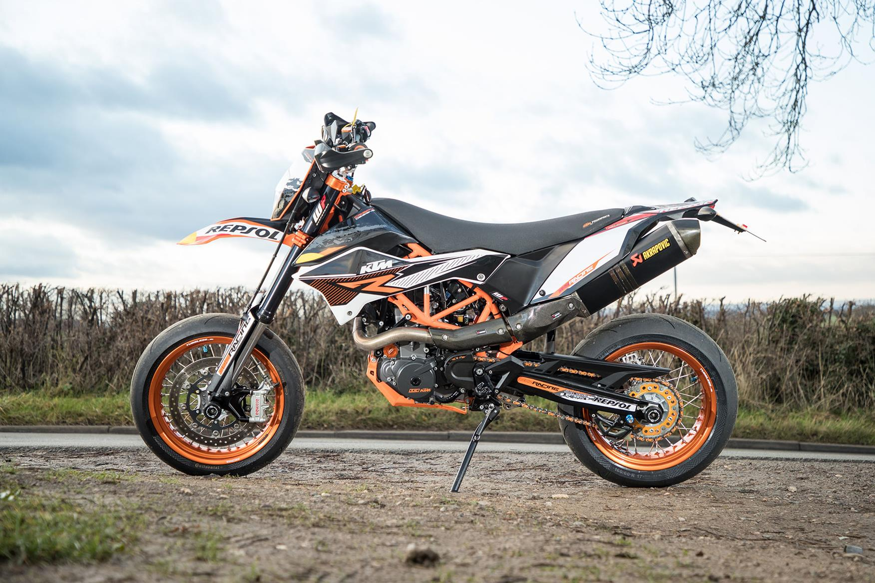 KTM 690 SMC R with Akrapovic exhaust