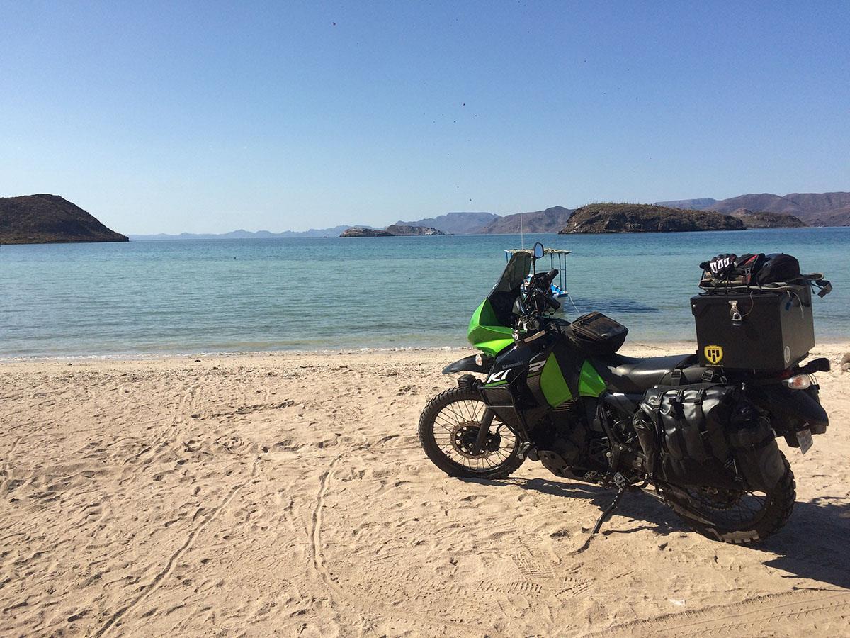 Elijah's KLR650 in Baja