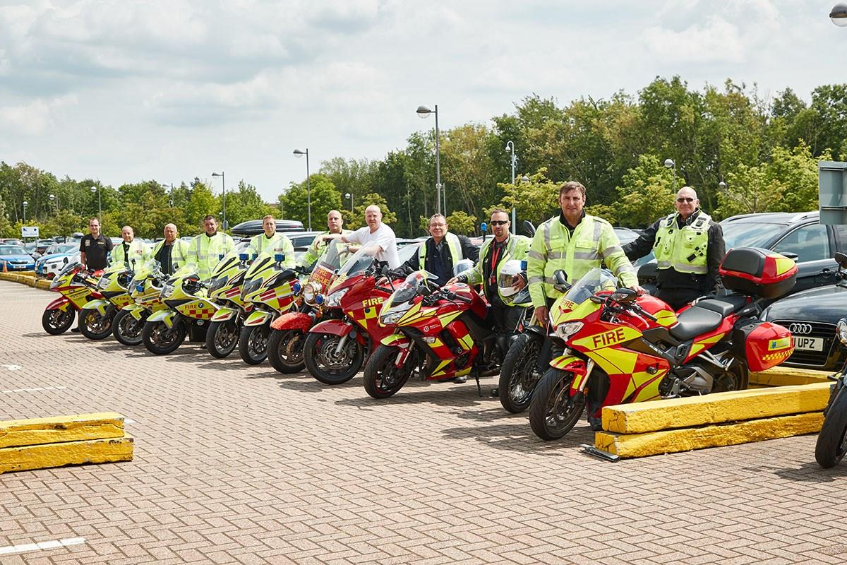 A range of Fire Bikes visit MCN
