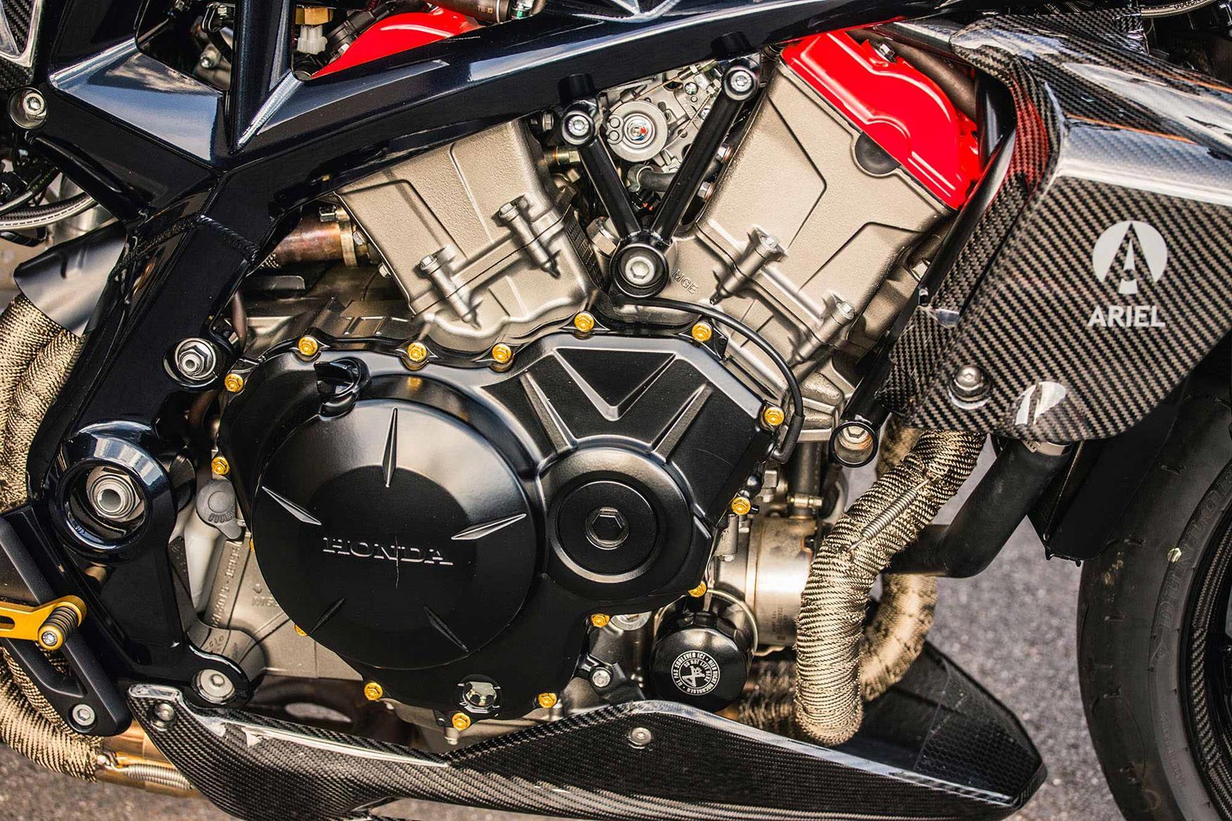 The Ariel Ace R V4 engine