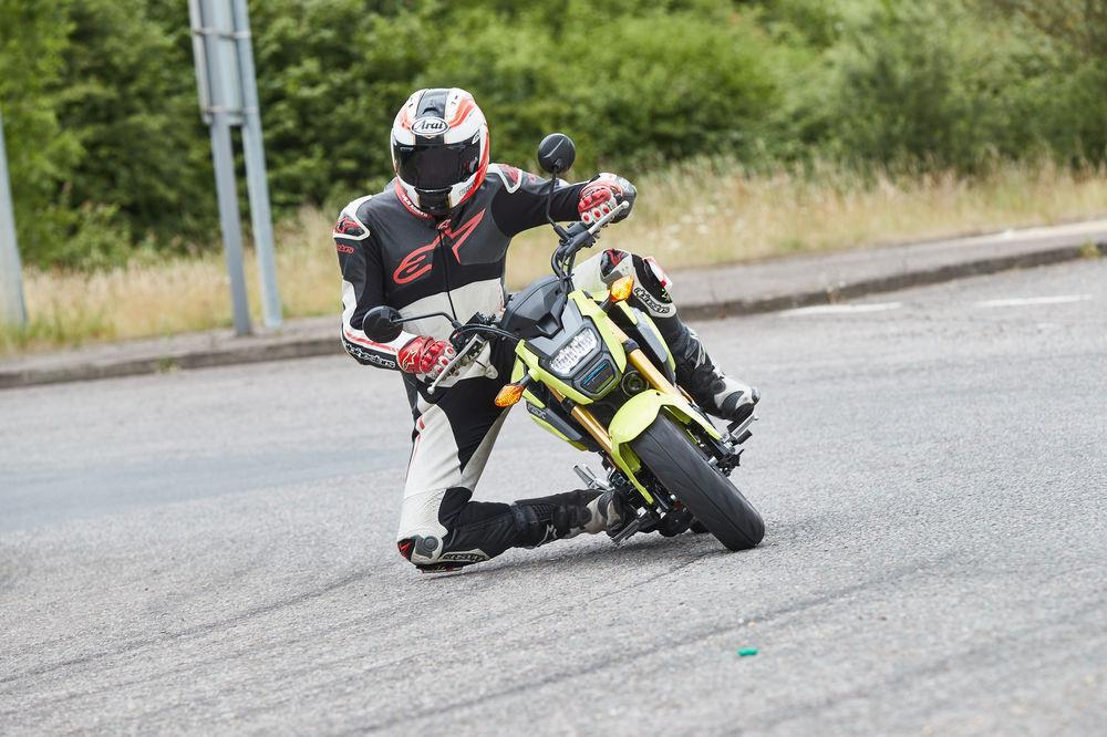 The Honda MSX125 comes to life when you start to chuck around corners
