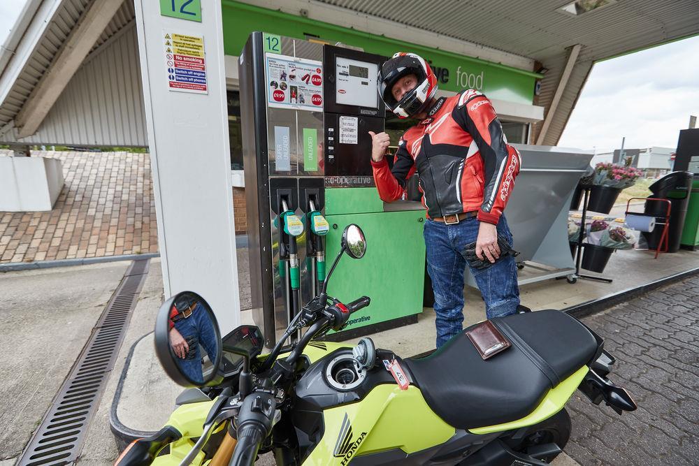 The Honda MSX125's claimed 185mpg fuel economy is impressive
