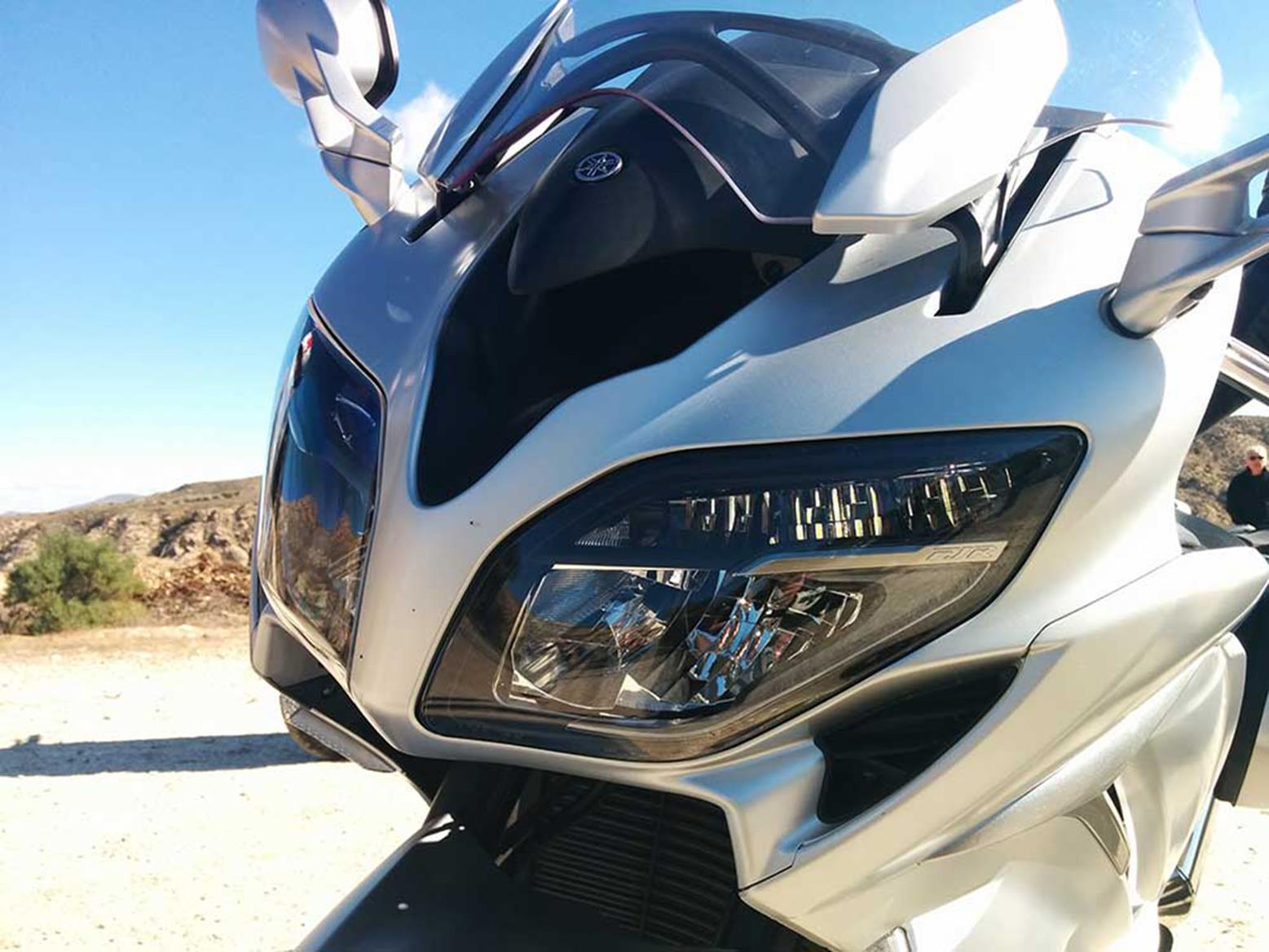 New Yamaha FJR1300 headlight with LED power
