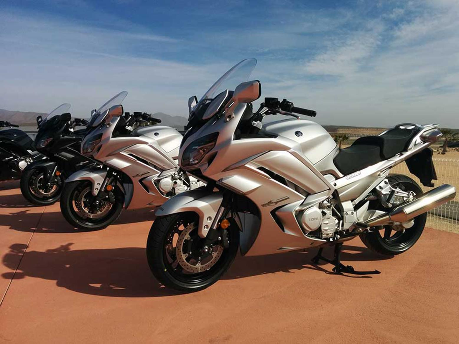 Yamaha FJR1300 at the launch in Spain