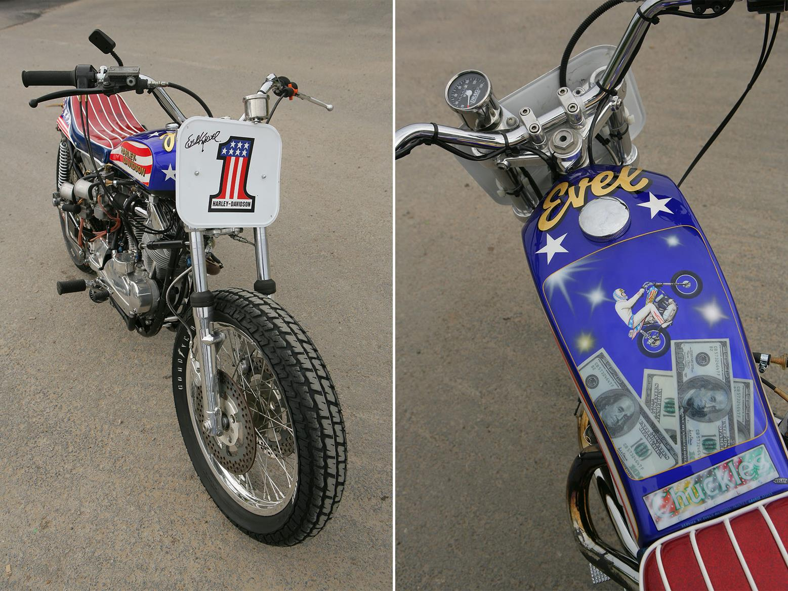 The XR750 replica feels faster than a bike this old should