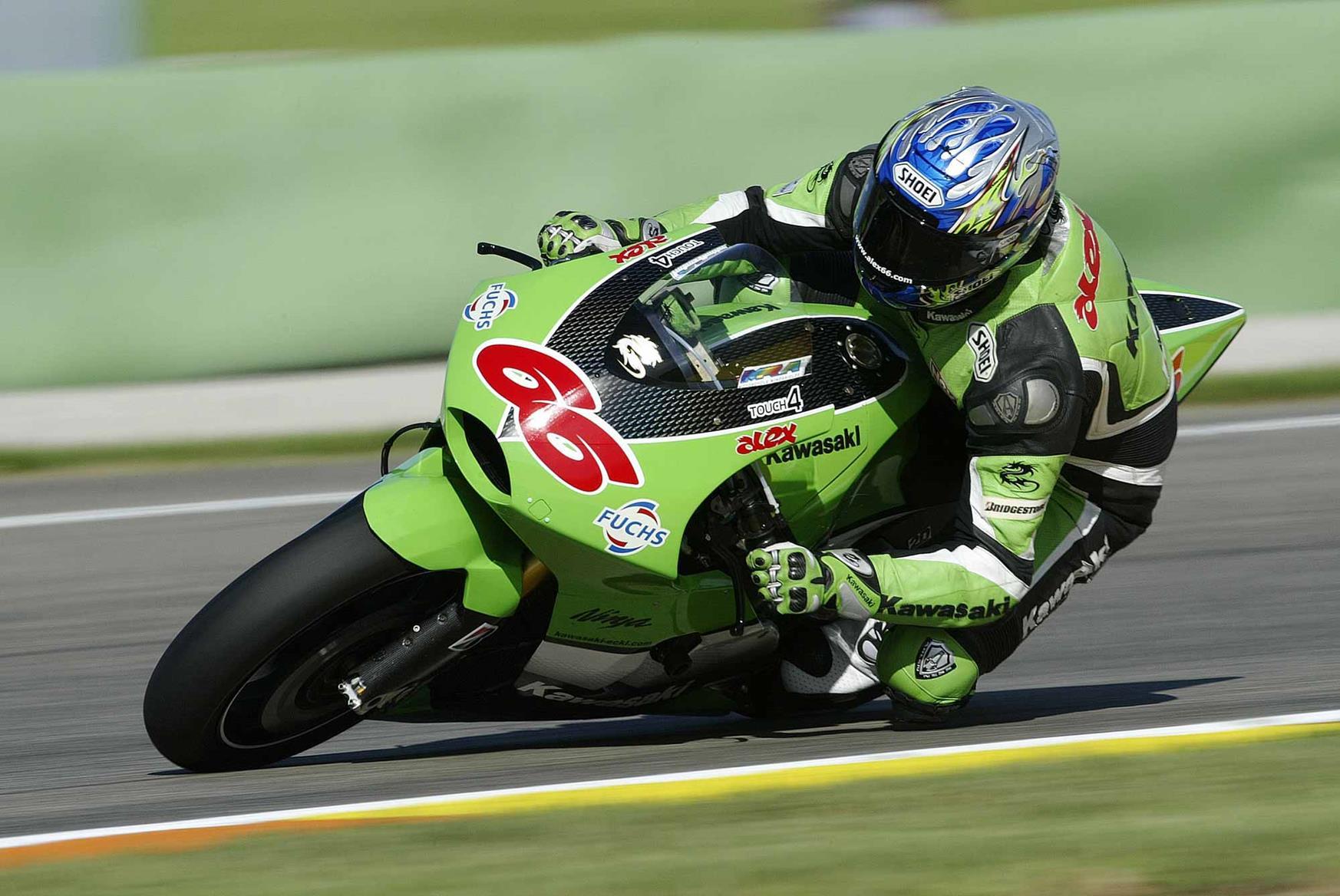 Alex Hofmann was a factory Kawasaki rider