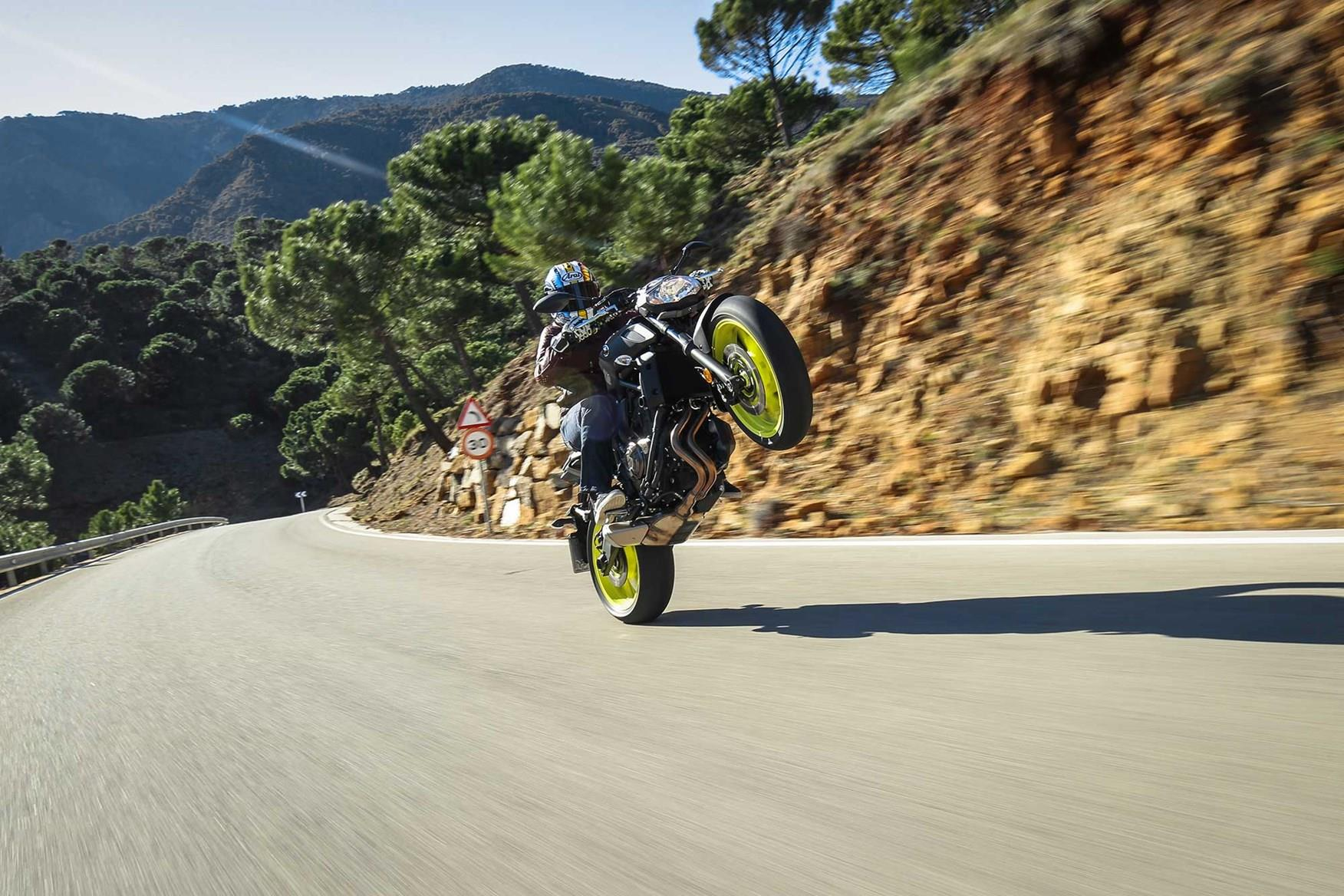 The Yamaha MT-07 is huge fun