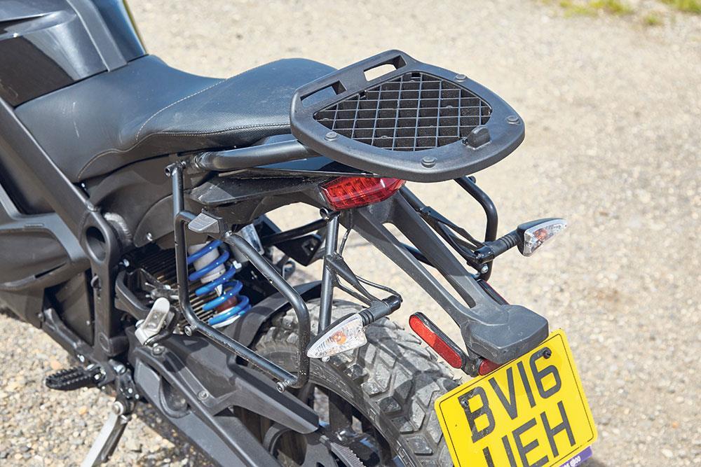 2016 Zero DSR luggage rack and rear wheel