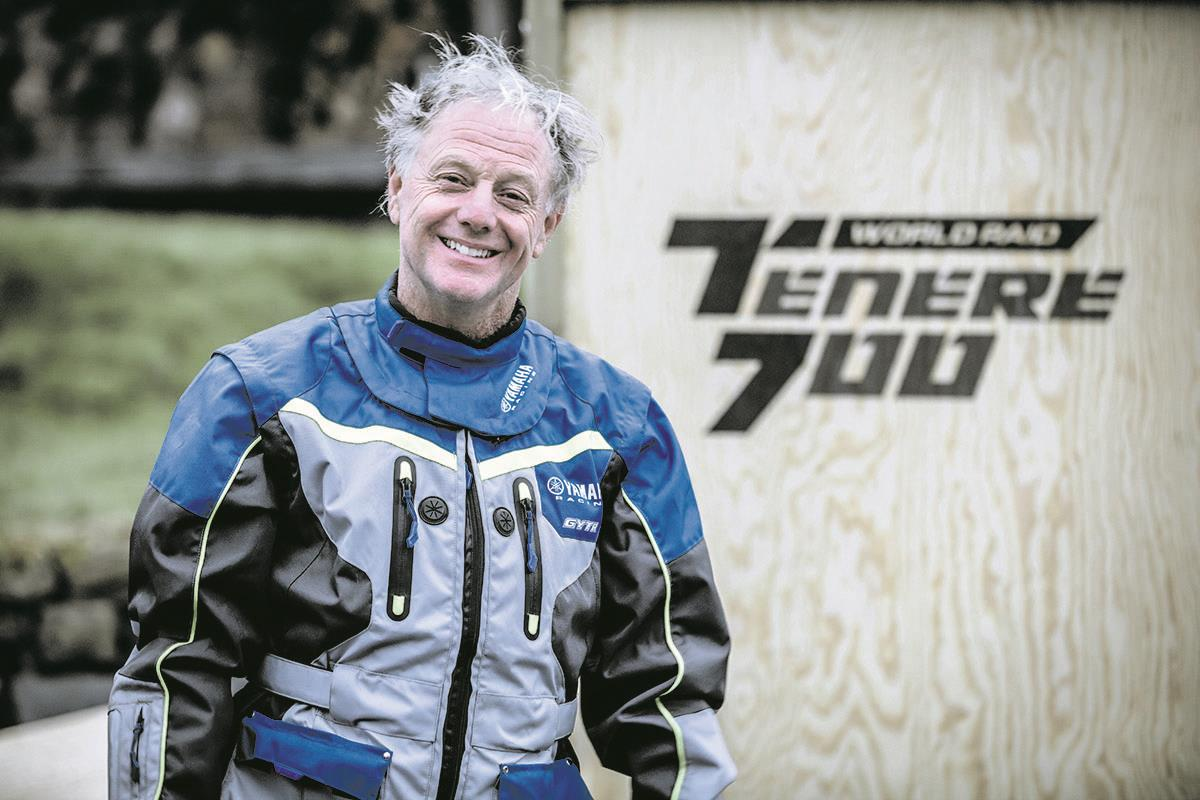 Nick Sanders rides new Yamaha T7