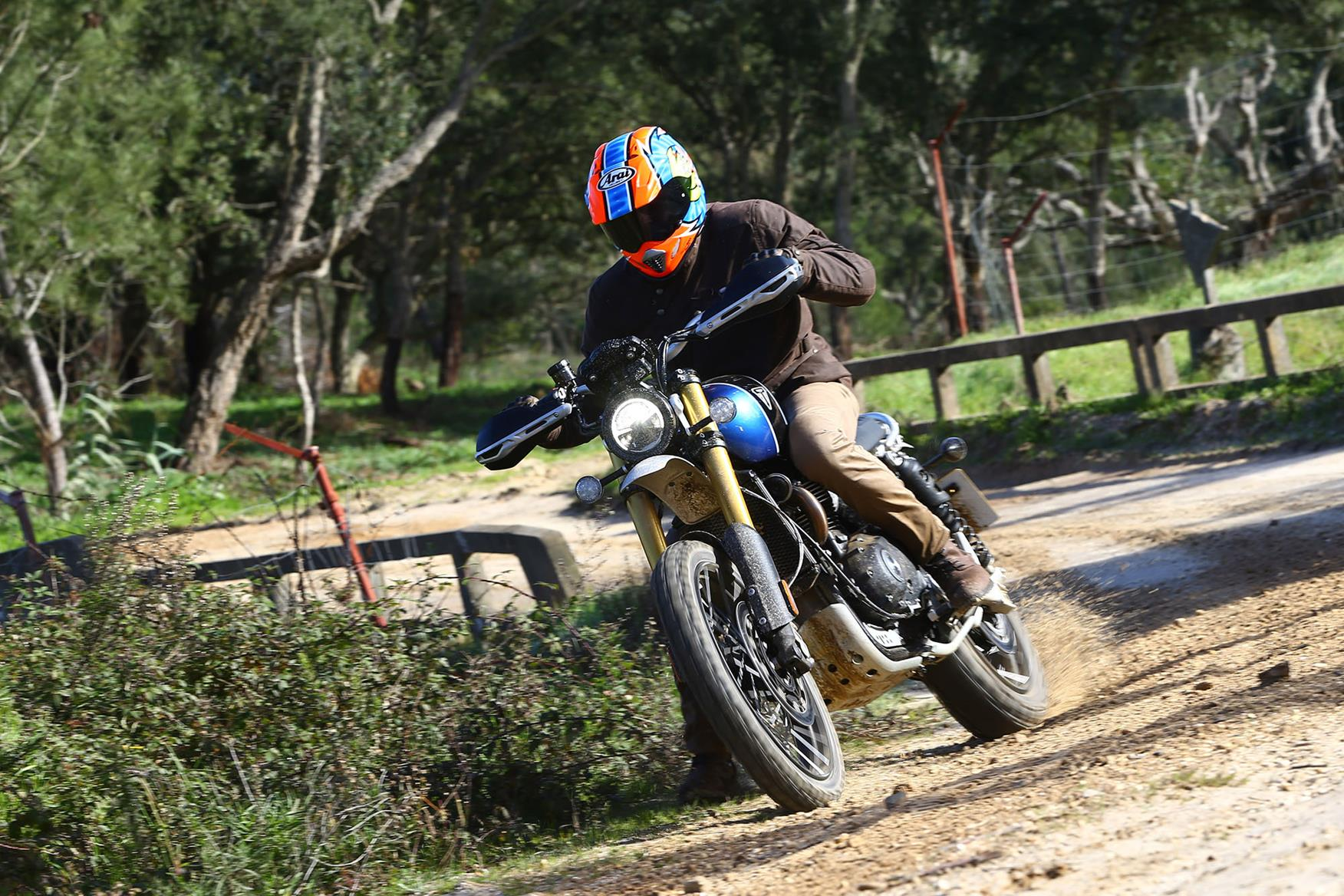 The Triumph Scrambler 1200 is a genuine off-road prospect