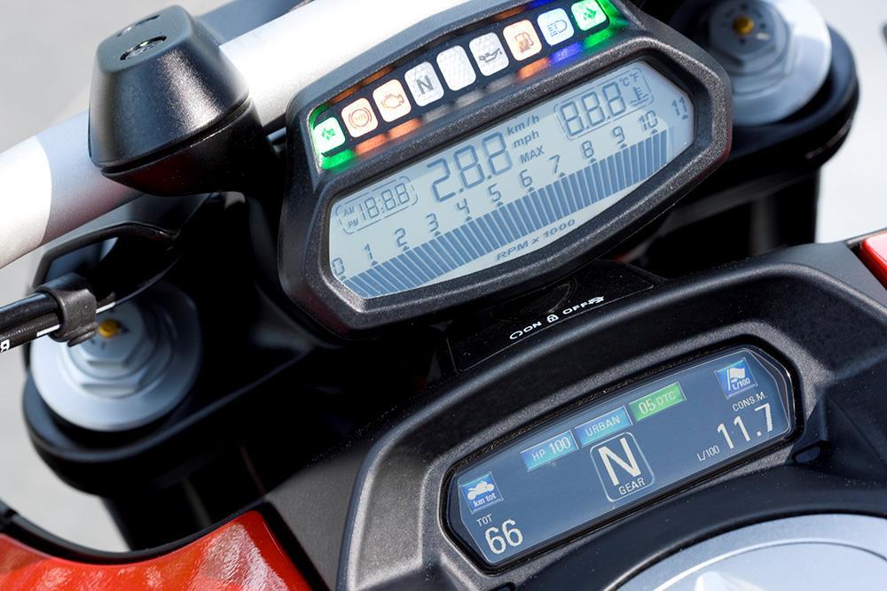 Ducati Diavel dash