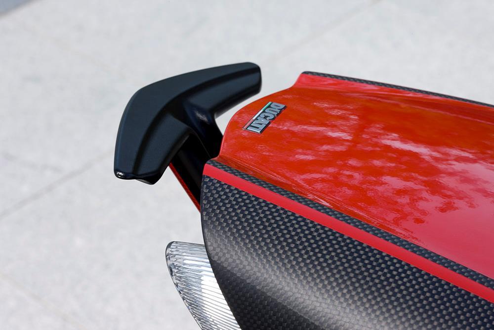 Ducati Diavel has retractable pillion grab rail