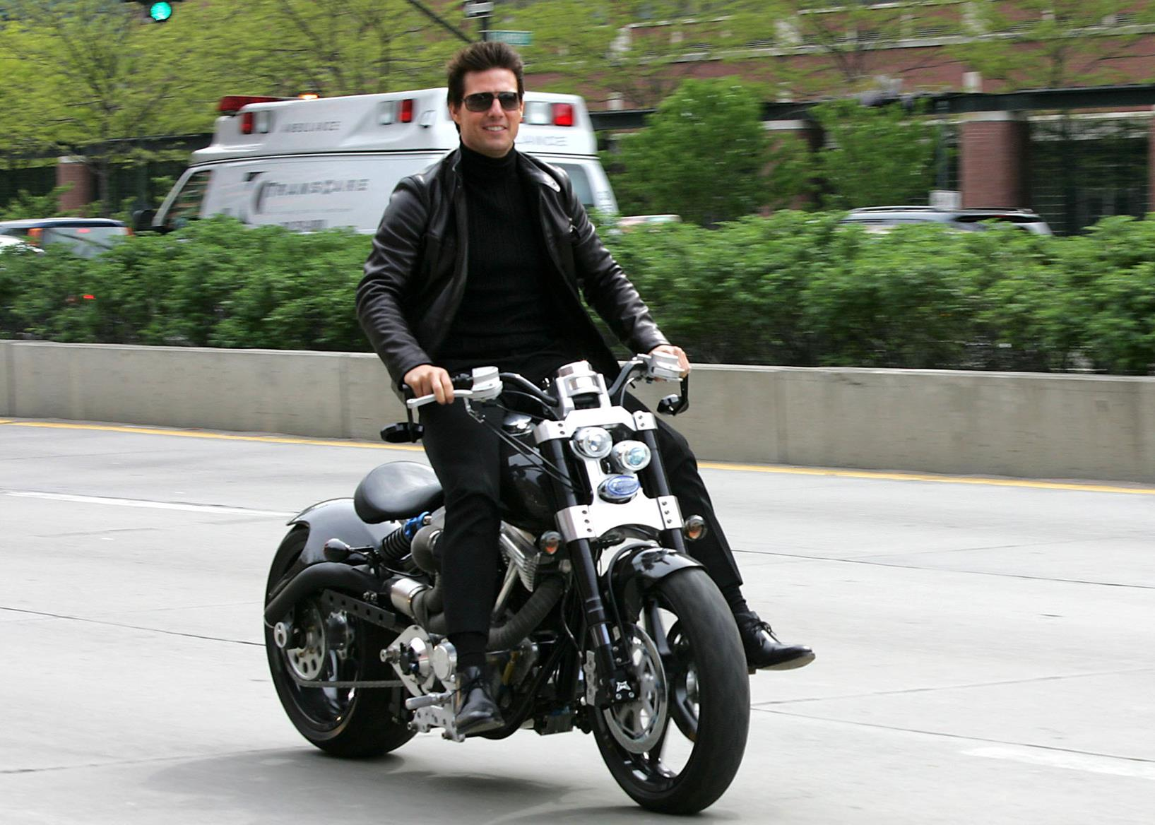 Cruise rode a Confederate Hellcat to the Mission: Impossible 3 premiere