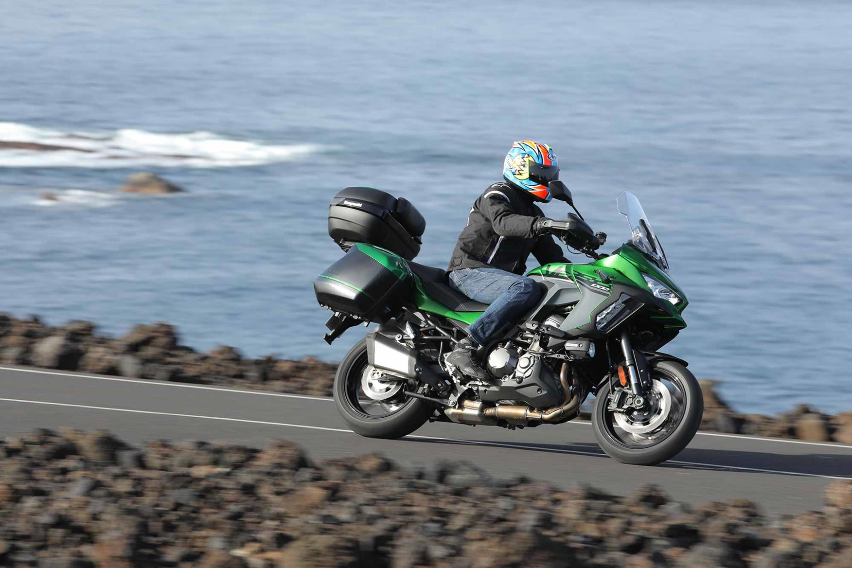The Versys offers bags of comfort