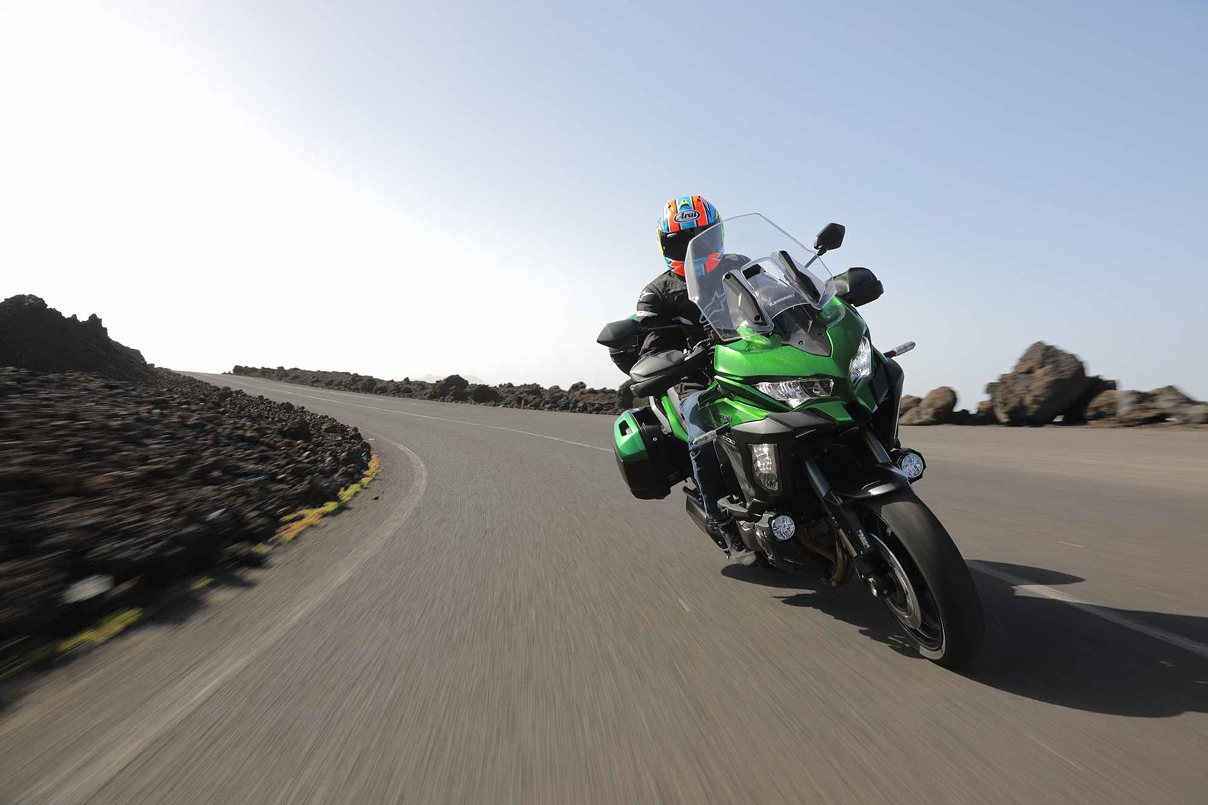 In action on the Kawasaki Versys 1000 SE