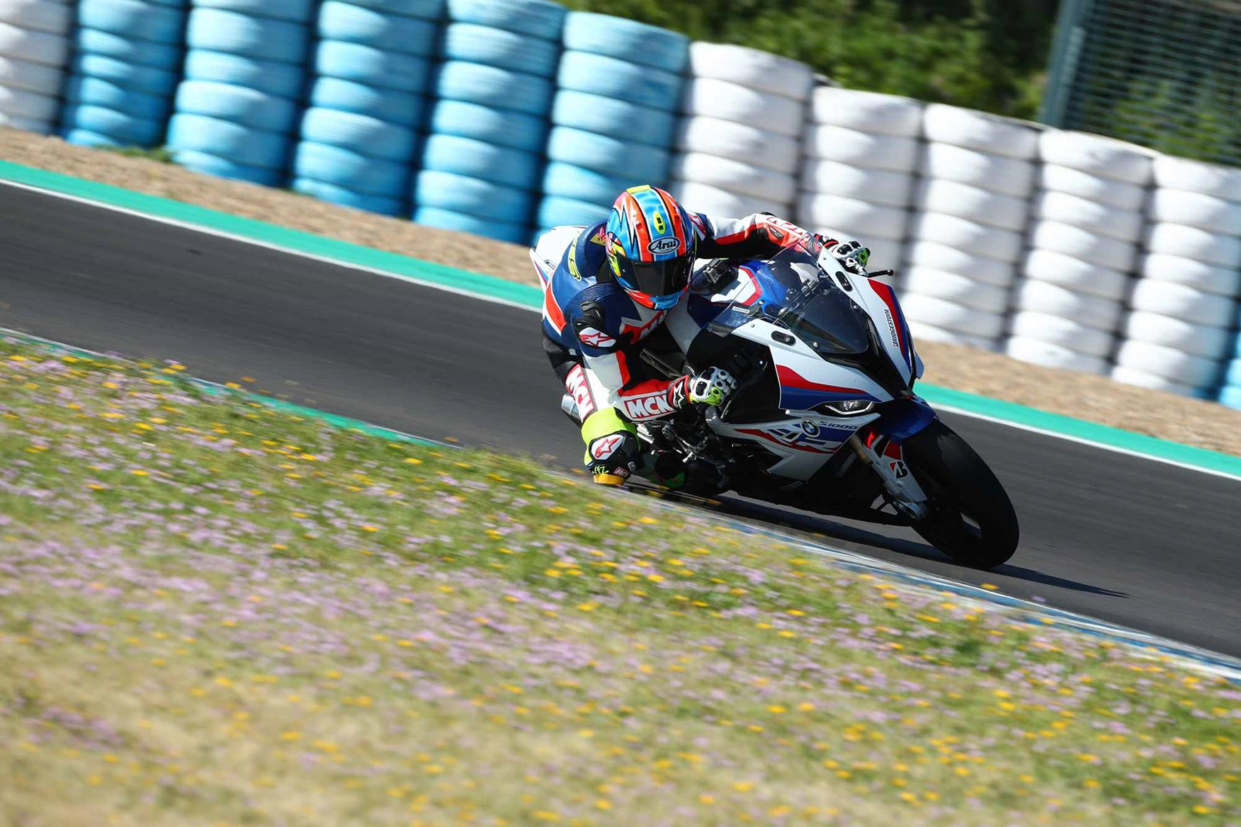 BMW S1000RR in action at Jerez