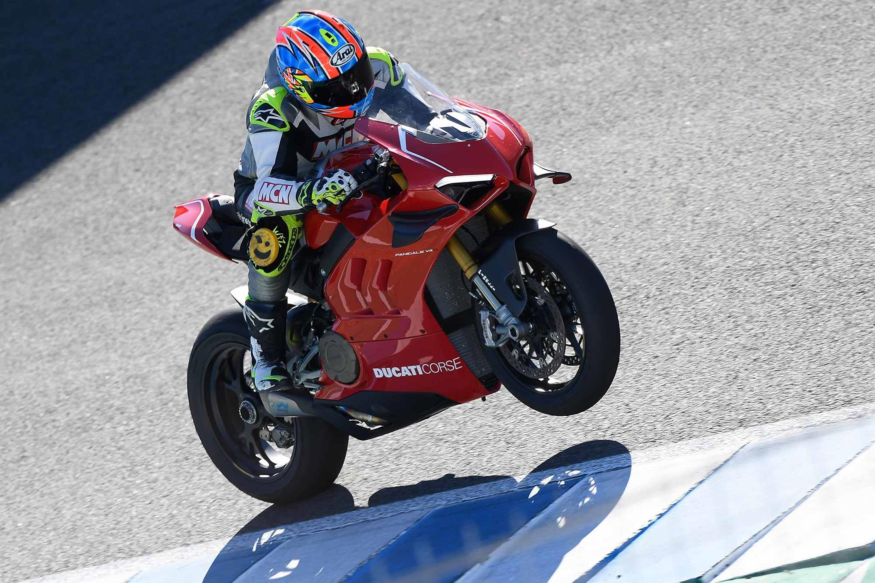 MCN's Neeves struggles to keep the front end down