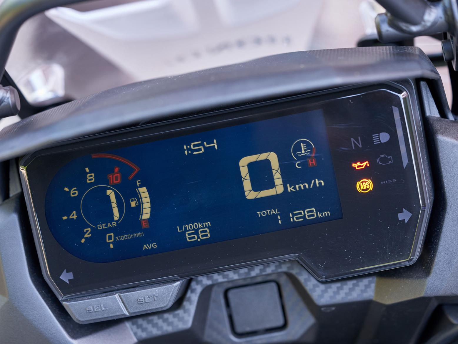 Honda CB500X digital dash