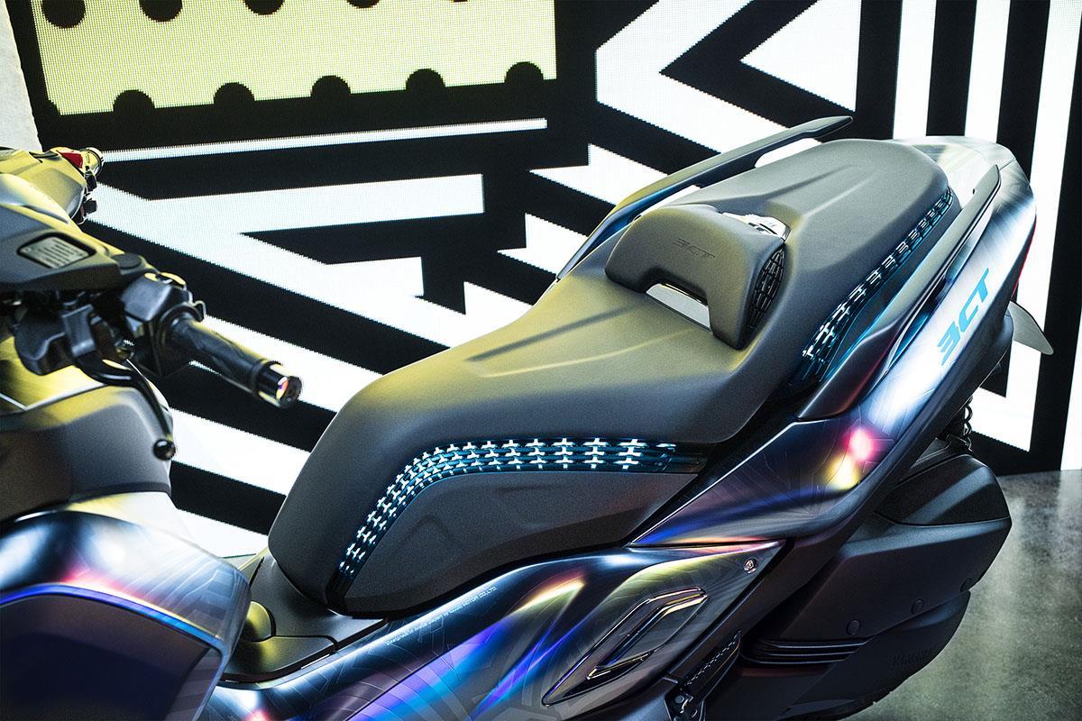 Yamaha's first 3D printed seat