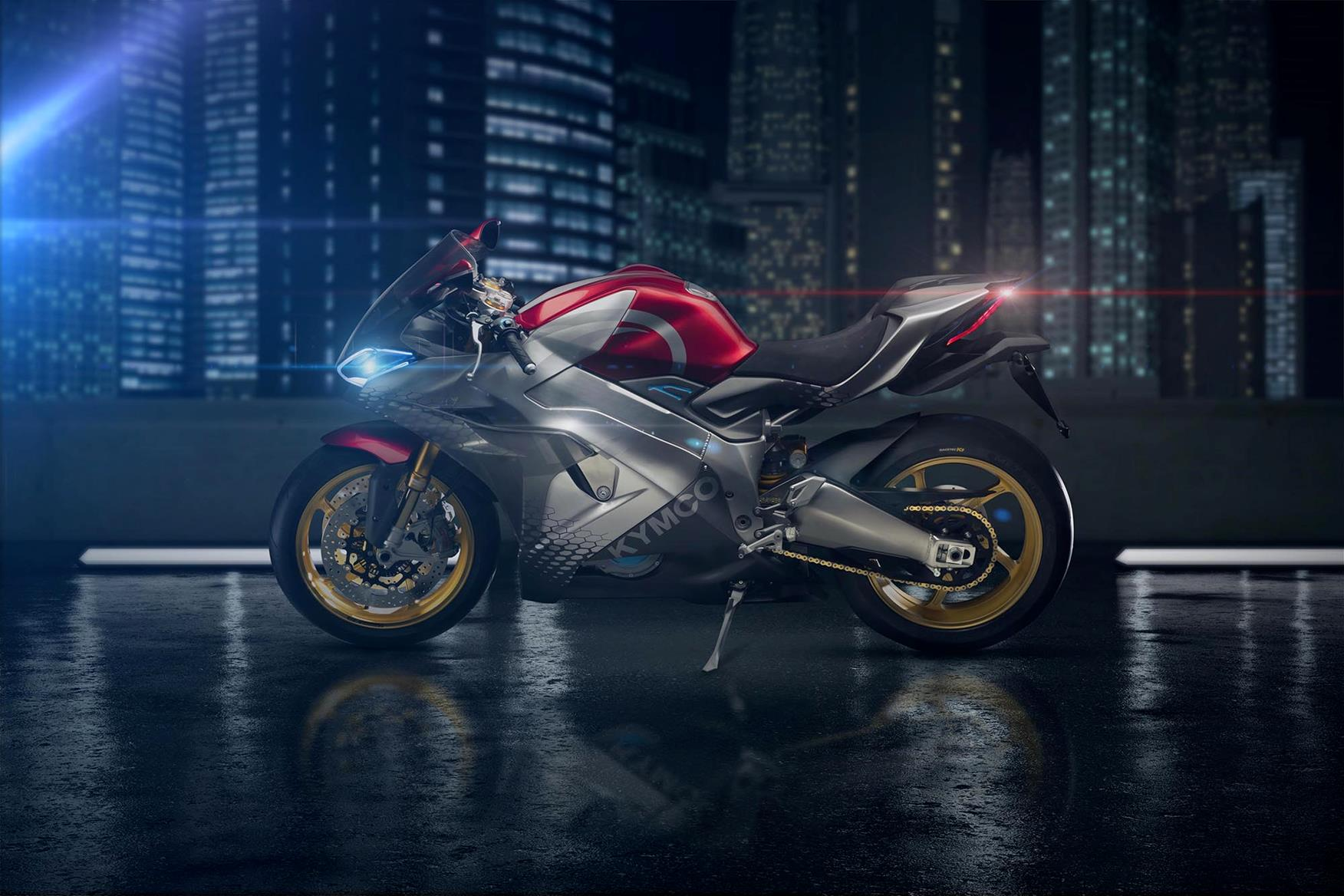 Kymco unveil their first electric superbike