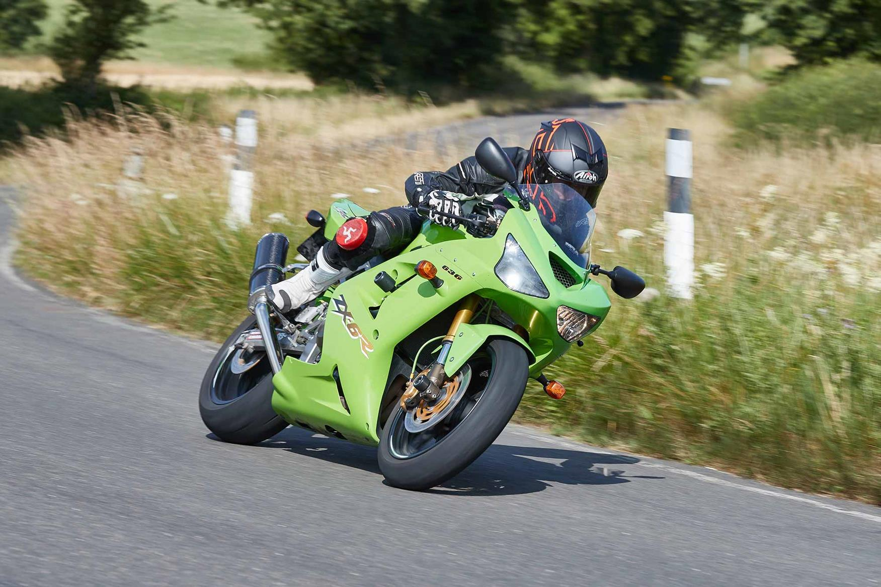 The 2003 Kawasaki ZX-6R was the most radical yet