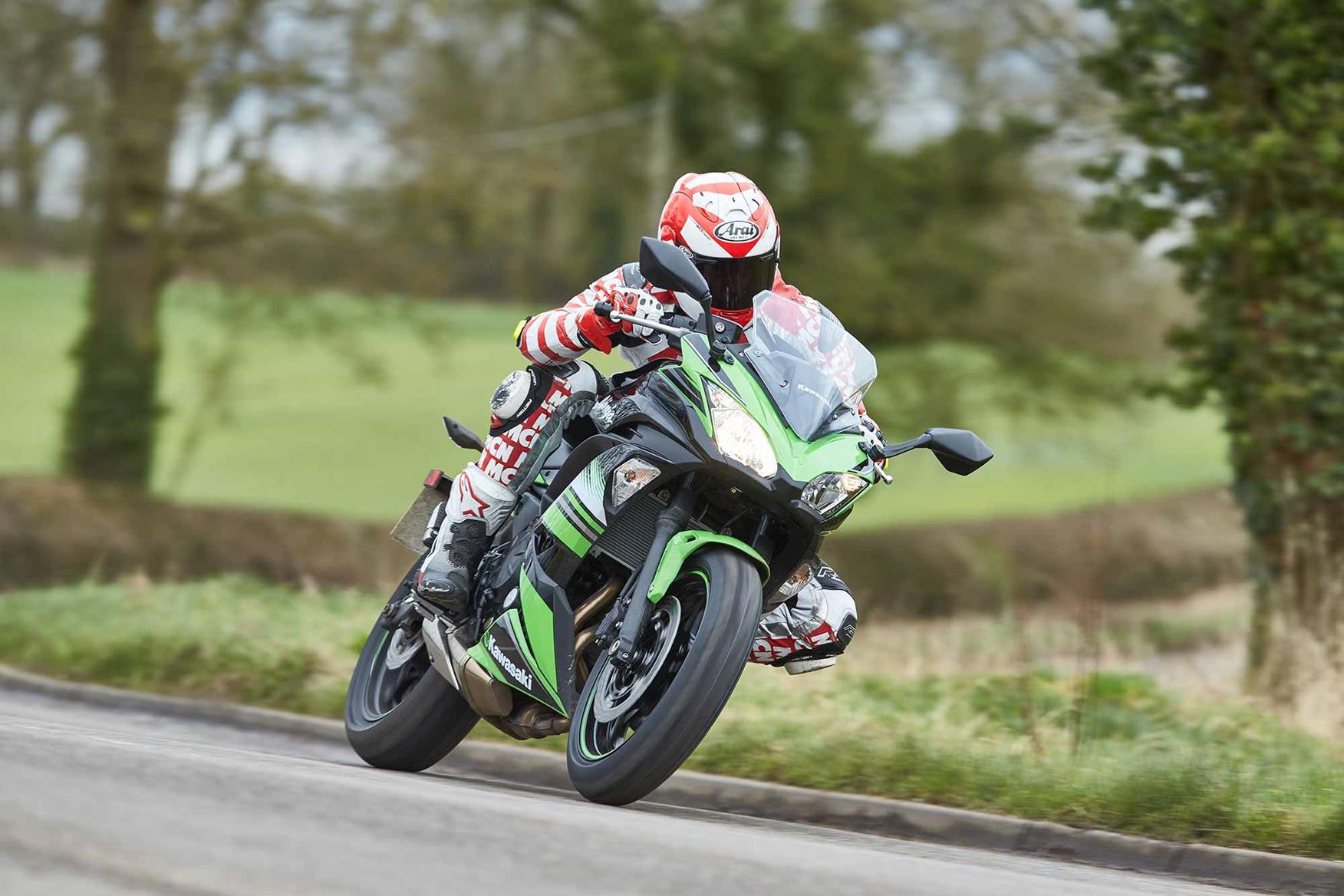 The Kawasaki Ninja 650 ridden by MCN's Bruce Dunn