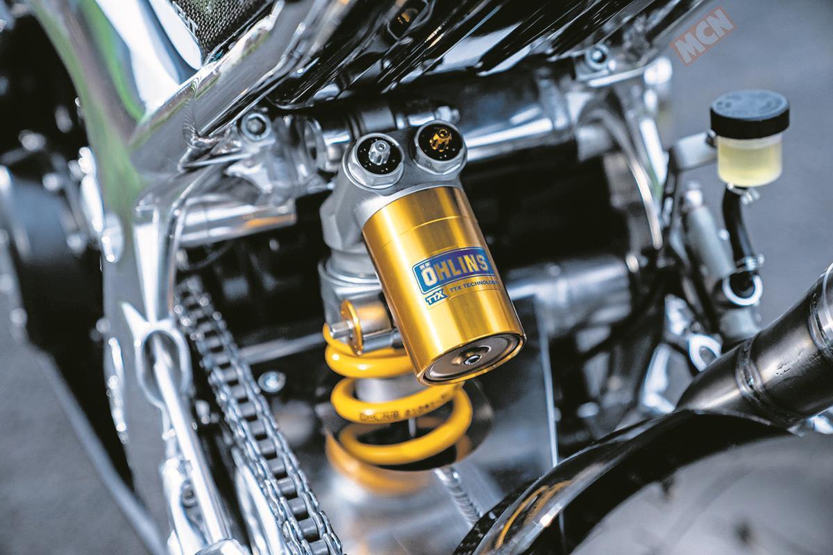 The Norton Superlight's suspension is top-spec Öhlins
