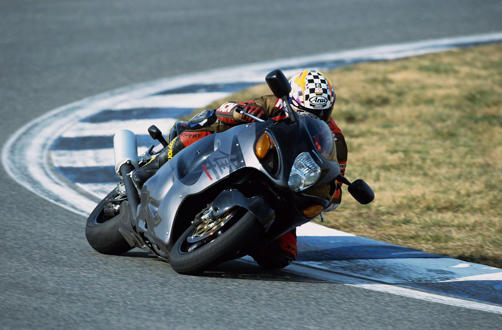 First generation Suzuki Hayabusa on track