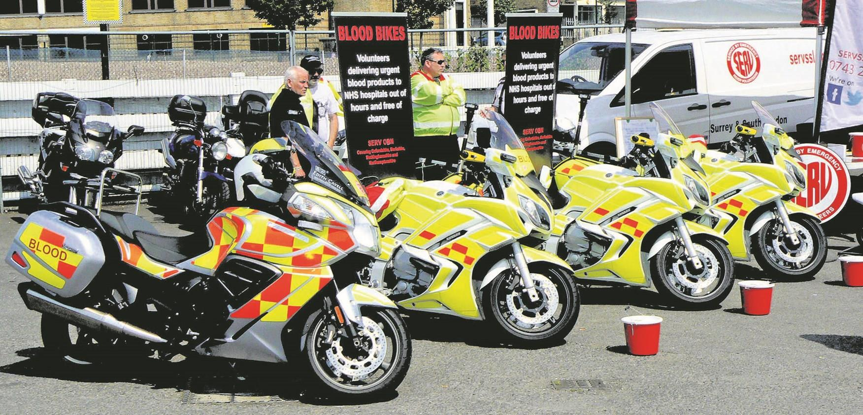 A collection of Blood Bikers