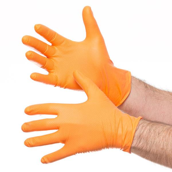Tiger Grip orange gloves