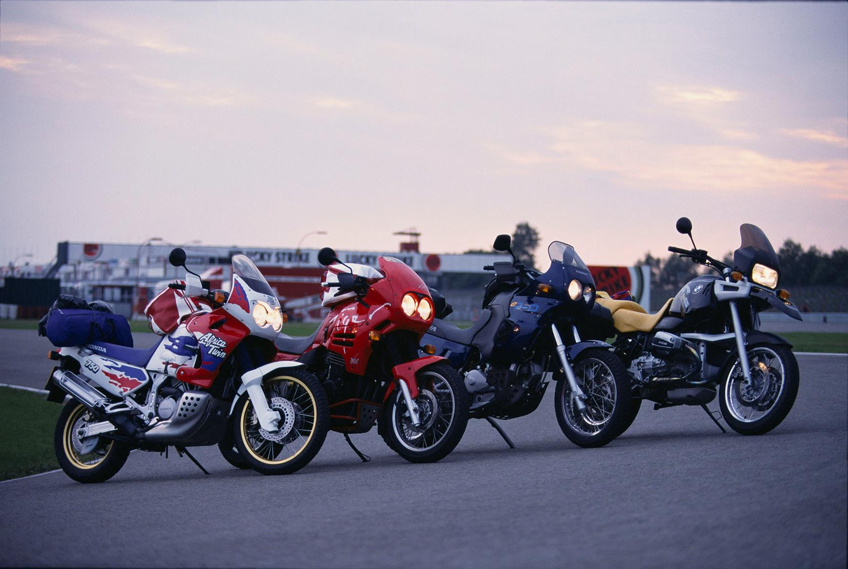 Honda Africa Twin, Triumph Tiger, Cagiva Elefant and BMW F800GS