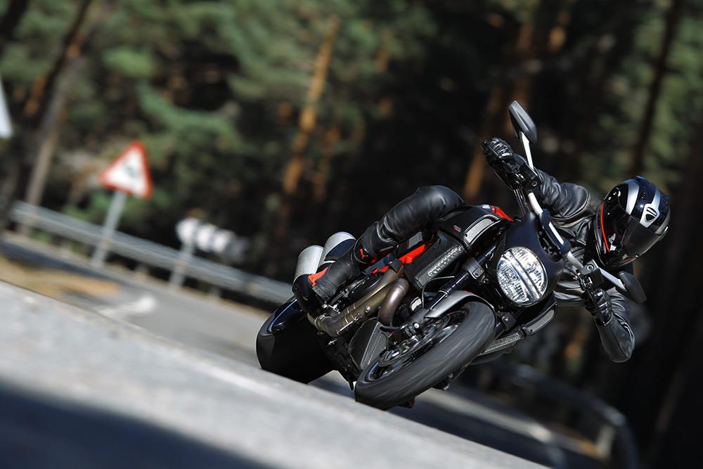 The Ducati Diavel in action