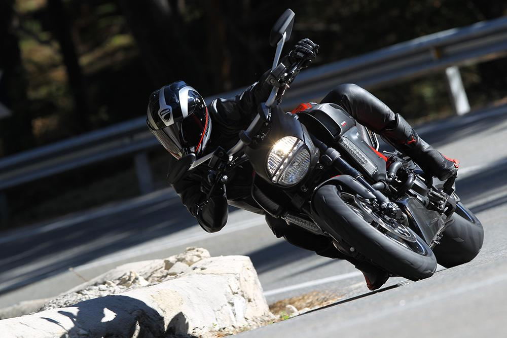 The Ducati Diavel cornering