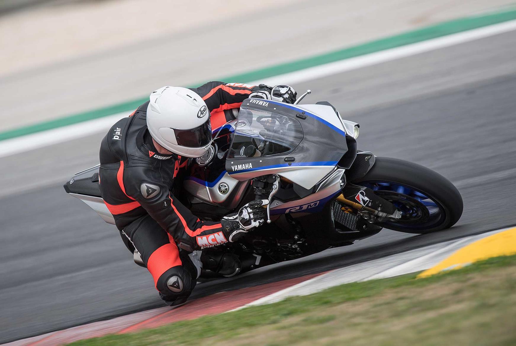 Yamaha R1M on track