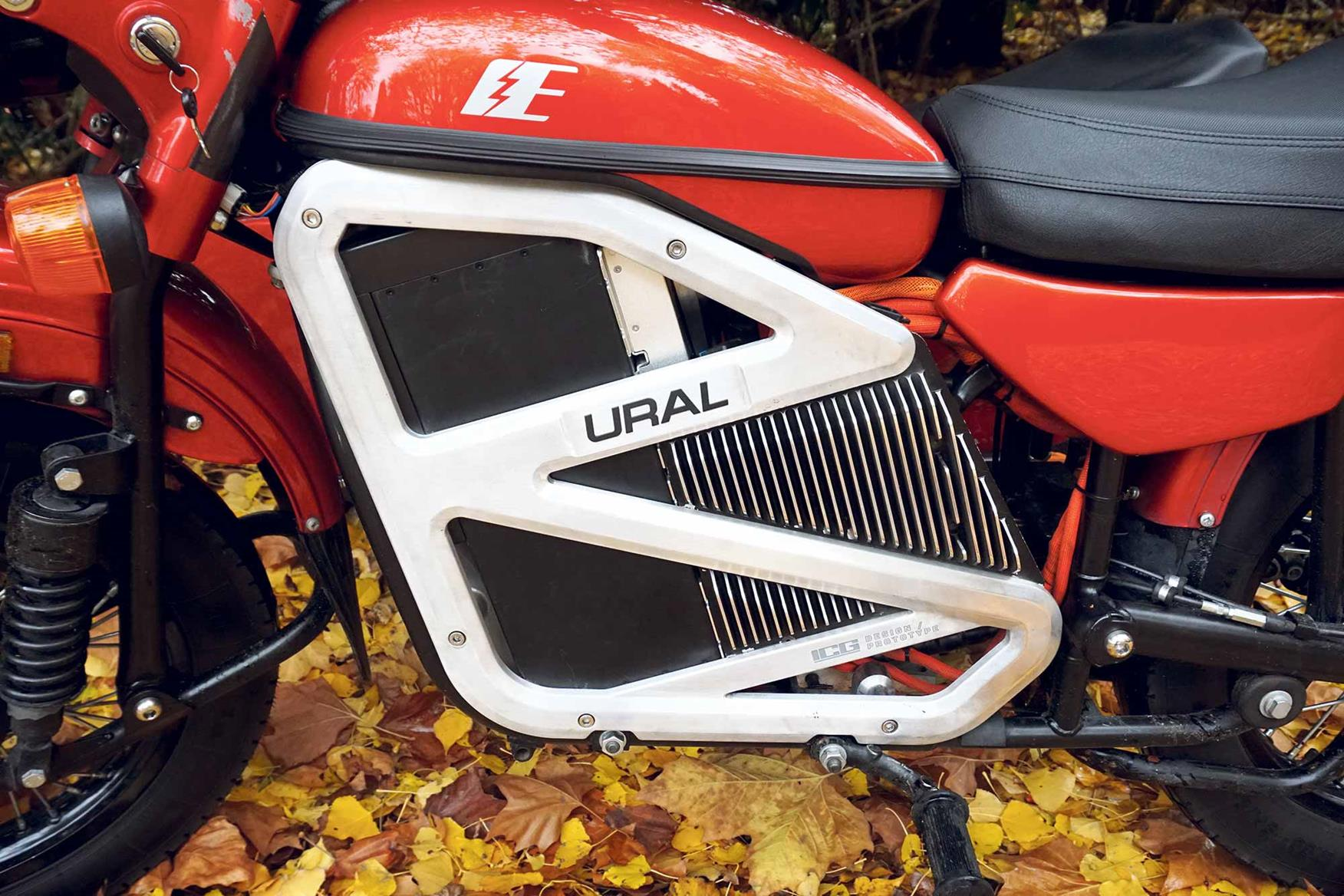 Powering the Ural is the electric motor from a Zero S
