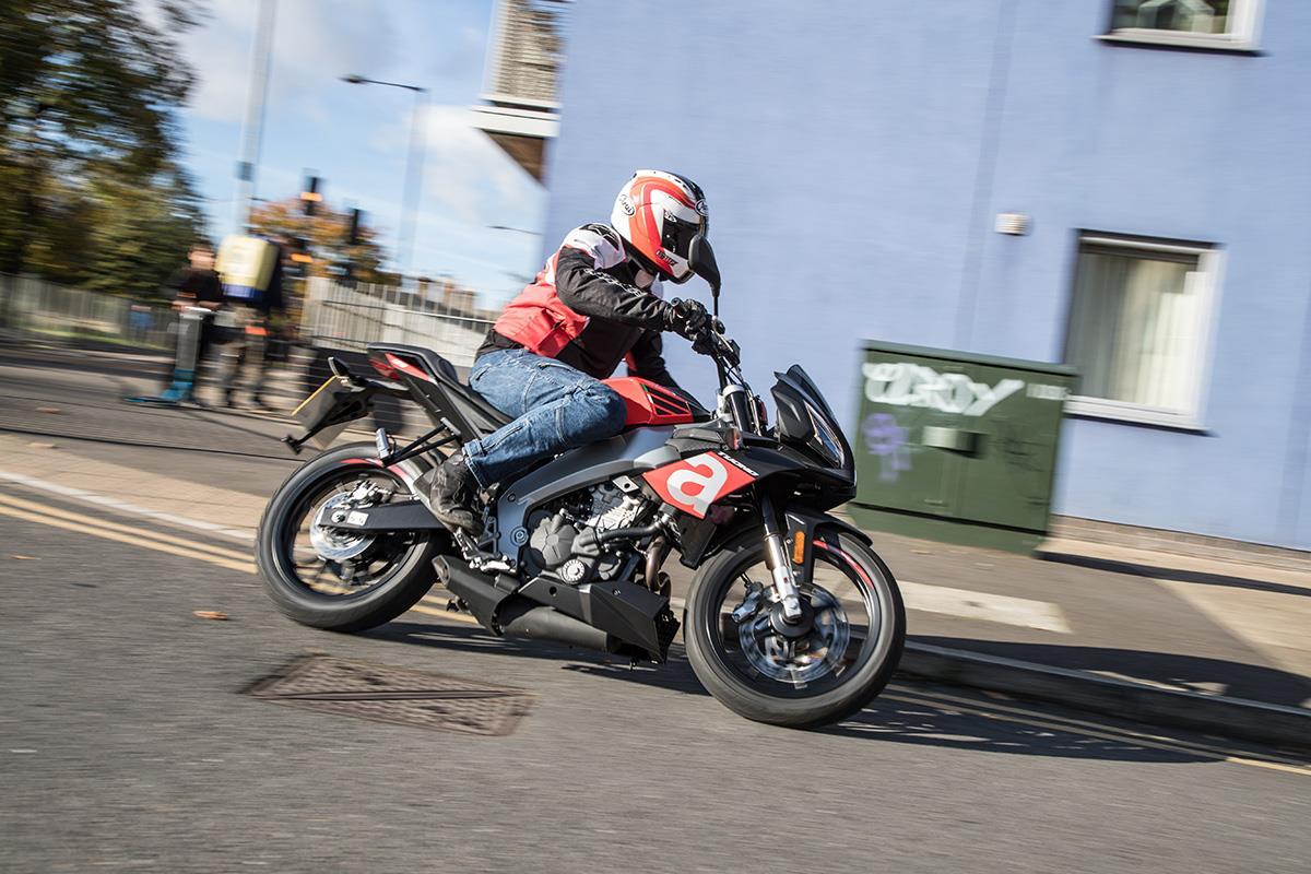 MCN contributor Jon Urry rides the Aprilia Tuono 125