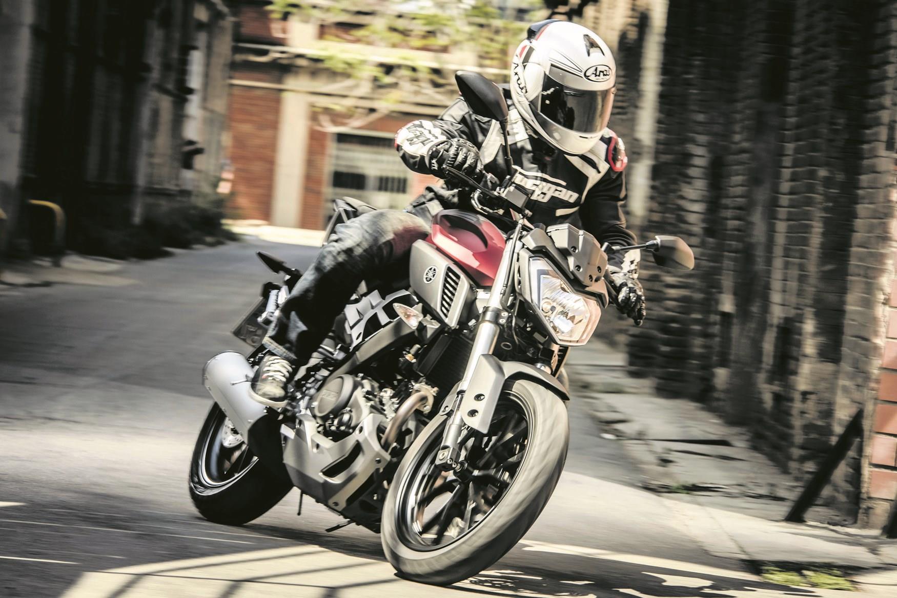 The Yamaha MT-125 being ridden