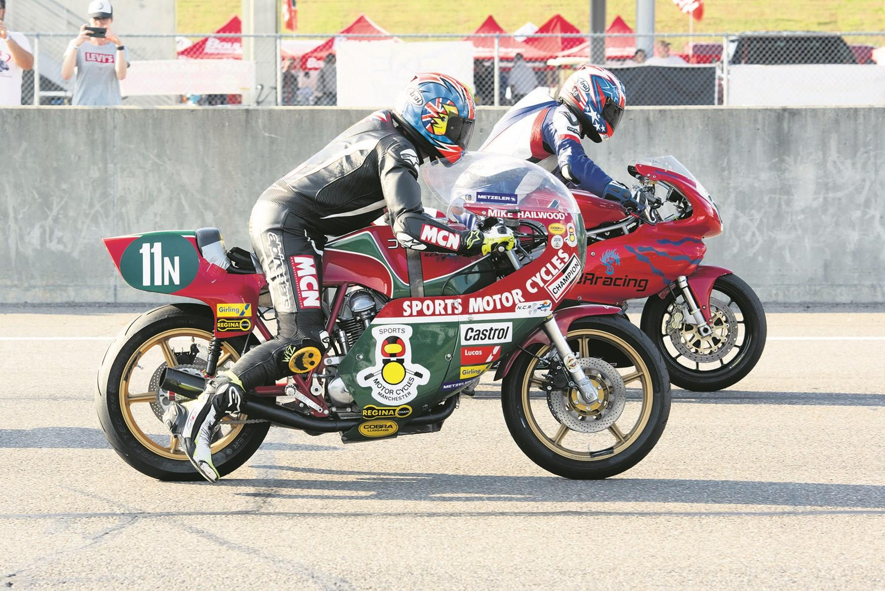 MCN's Neeves readies himself on the V2H