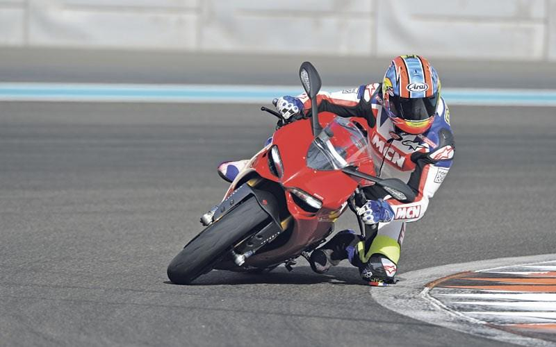 The Ducati 1199 Panigale in action
