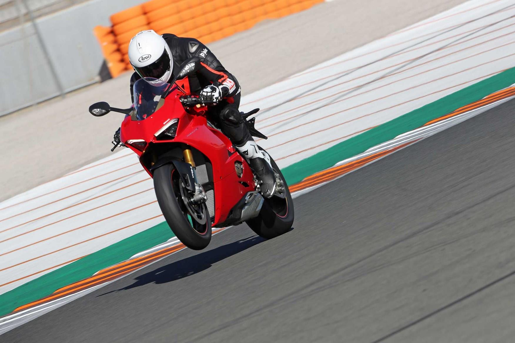 Former Senior Editor Matt Wildee power wheelies the Panigale V4S